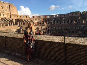 Abbie at The Colosseum Rome