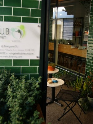 Hub Coworking – 'The centre part of a wheel, fan, or propeller'